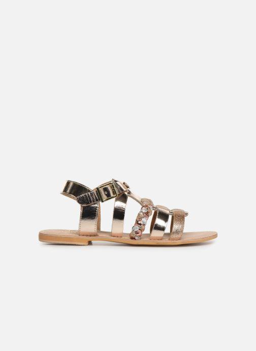Sandales et nu-pieds Initiale Paris Maya Or et bronze vue derrière