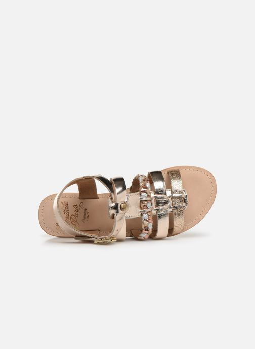 Sandales et nu-pieds Initiale Paris Maya Or et bronze vue gauche