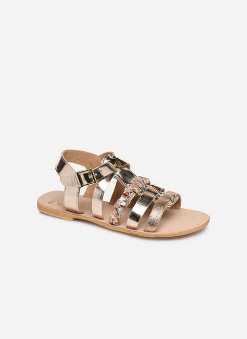 Sandales et nu-pieds Initiale Paris Maya Or et bronze vue détail/paire