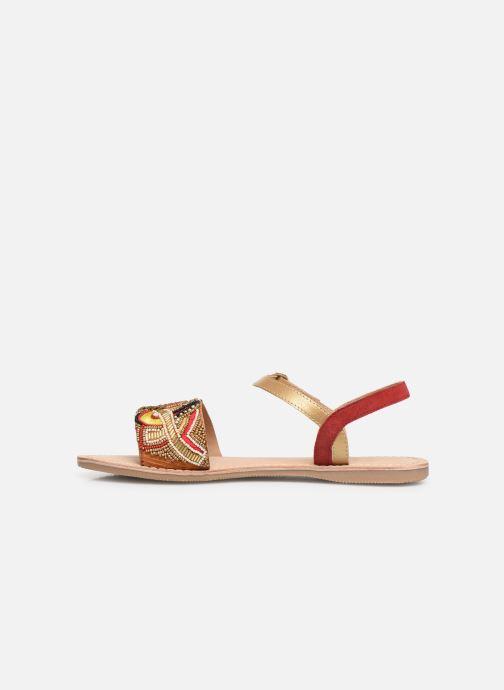 Sandalen Initiale Paris Nanako rot ansicht von vorne