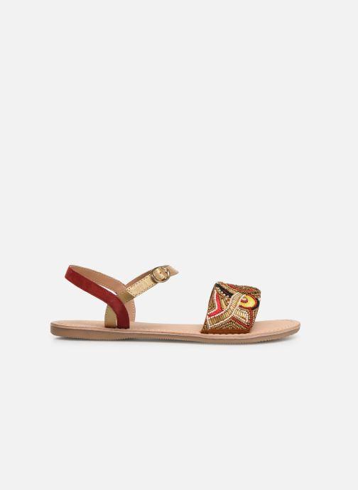Sandalen Initiale Paris Nanako rot ansicht von hinten