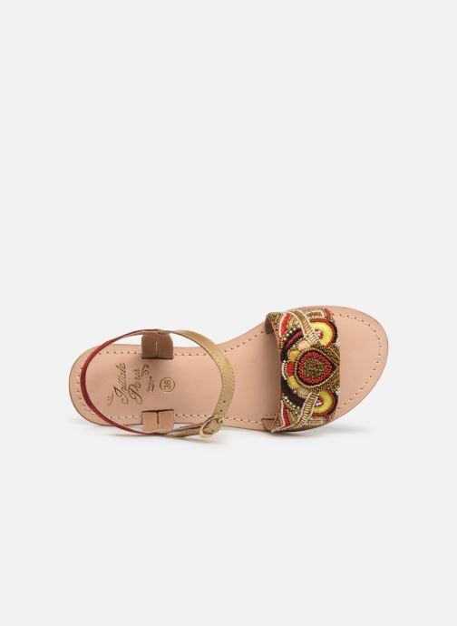 Sandalen Initiale Paris Nanako rot ansicht von links