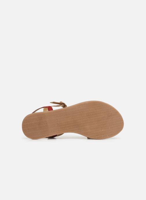 Sandalen Initiale Paris Nanako rot ansicht von oben