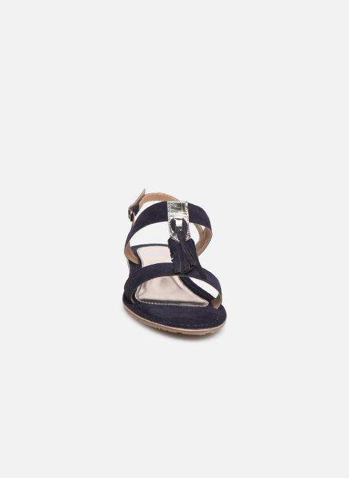 Sandales et nu-pieds Initiale Paris Nancy Bleu vue portées chaussures