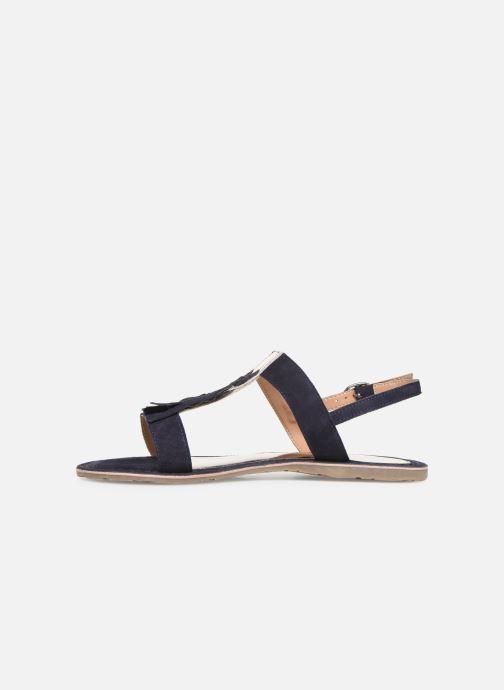 Sandales et nu-pieds Initiale Paris Nancy Bleu vue face