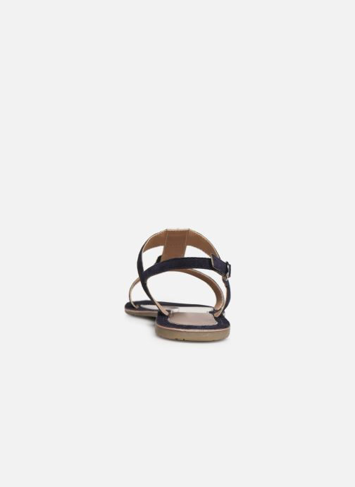 Sandales et nu-pieds Initiale Paris Nancy Bleu vue droite