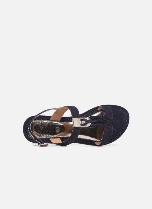 Sandales et nu-pieds Initiale Paris Nancy Bleu vue gauche
