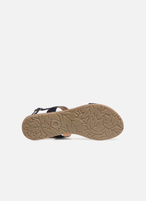 Sandales et nu-pieds Initiale Paris Nancy Bleu vue haut
