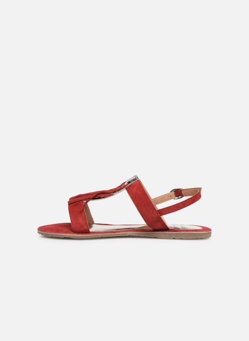 Sandales et nu-pieds Initiale Paris Nancy Rouge vue face