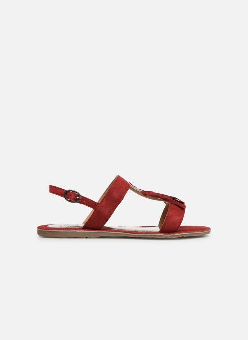 Sandales et nu-pieds Initiale Paris Nancy Rouge vue derrière