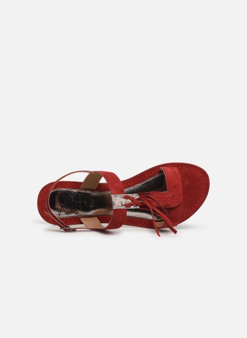 Sandales et nu-pieds Initiale Paris Nancy Rouge vue gauche