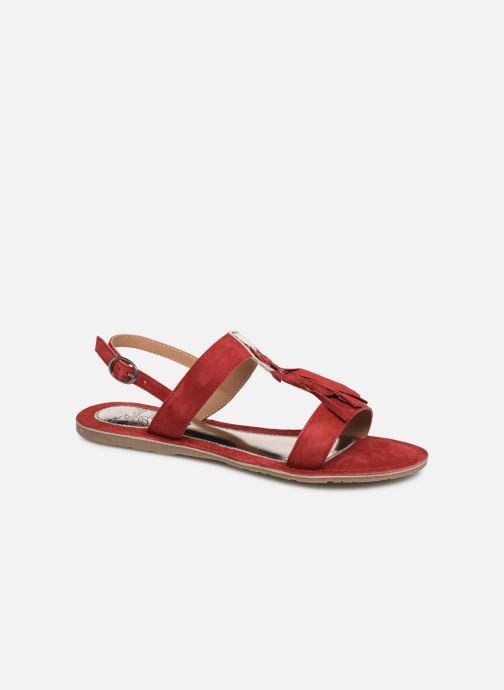 Sandales et nu-pieds Initiale Paris Nancy Rouge vue détail/paire