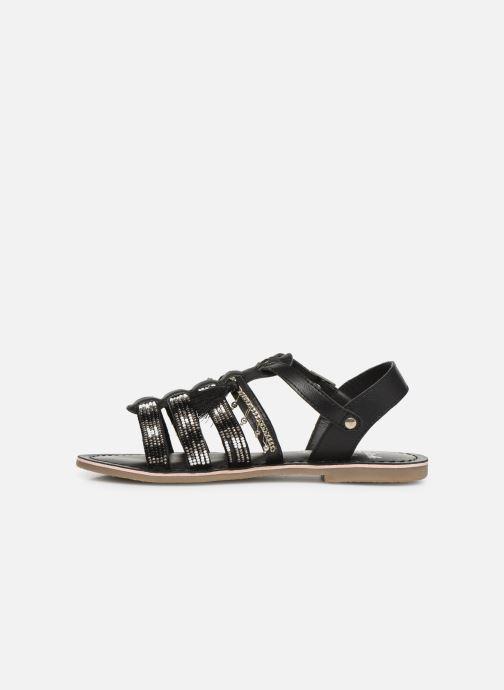 Sandalen Initiale Paris Nastasia schwarz ansicht von vorne