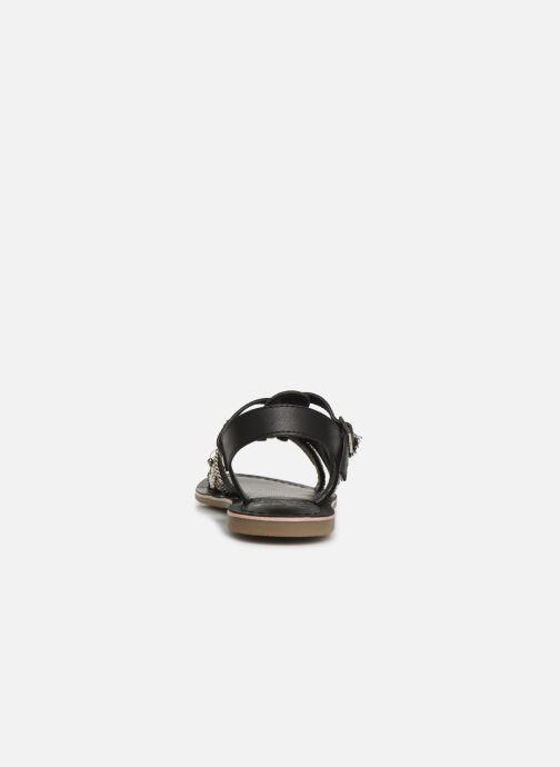 Sandalen Initiale Paris Nastasia schwarz ansicht von rechts