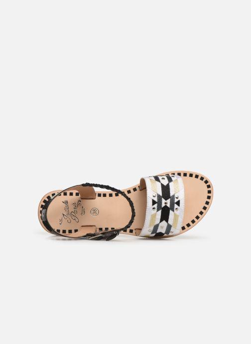 Sandales et nu-pieds Initiale Paris Navya Noir vue gauche