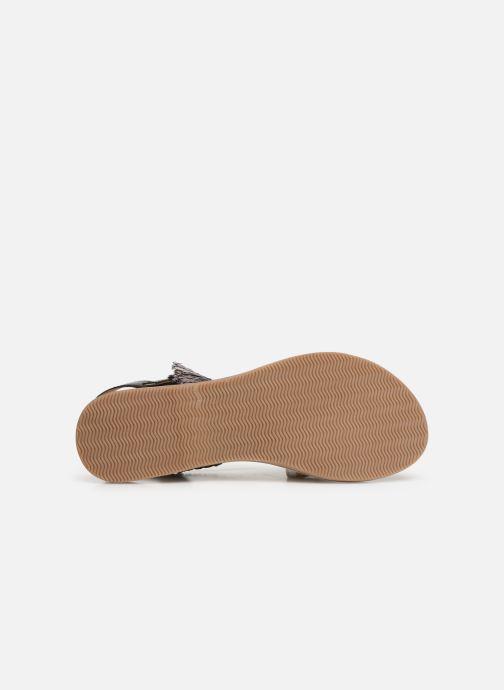 Sandales et nu-pieds Initiale Paris Navya Noir vue haut