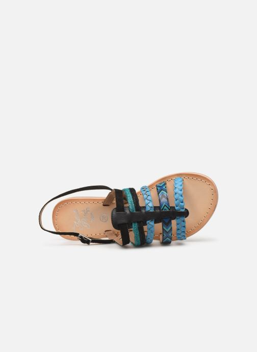 Sandalen Initiale Paris Nayana Zwart links