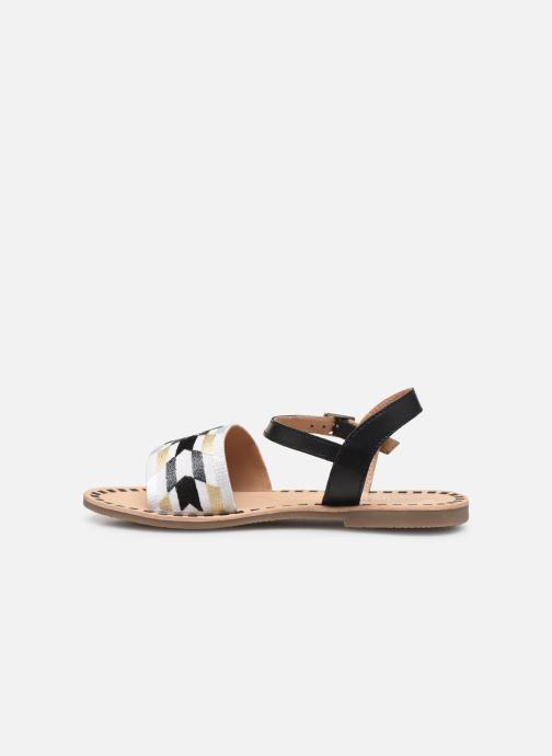 Sandalen Initiale Paris Ninon schwarz ansicht von vorne