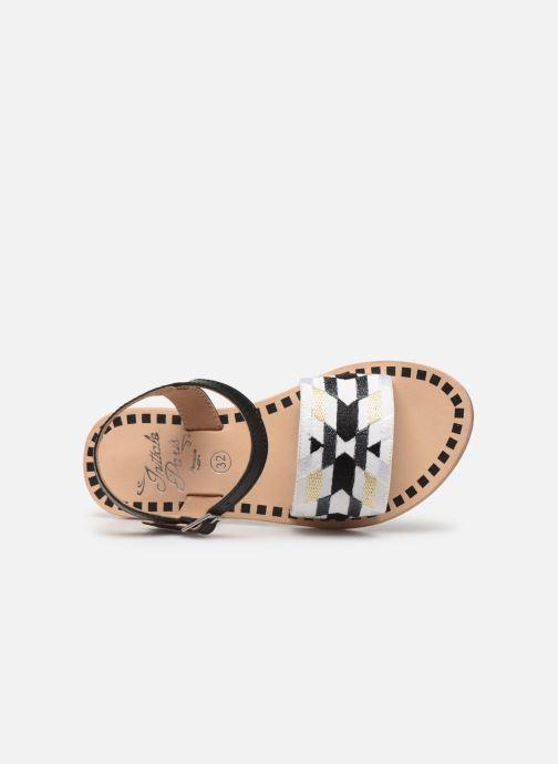 Sandalen Initiale Paris Ninon schwarz ansicht von links