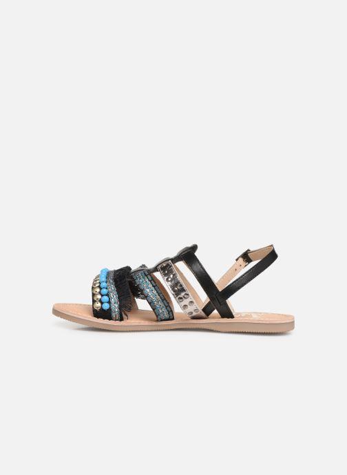 Sandalen Initiale Paris Noreen schwarz ansicht von vorne