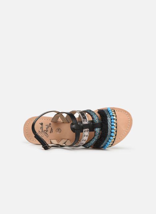 Sandalen Initiale Paris Noreen schwarz ansicht von links