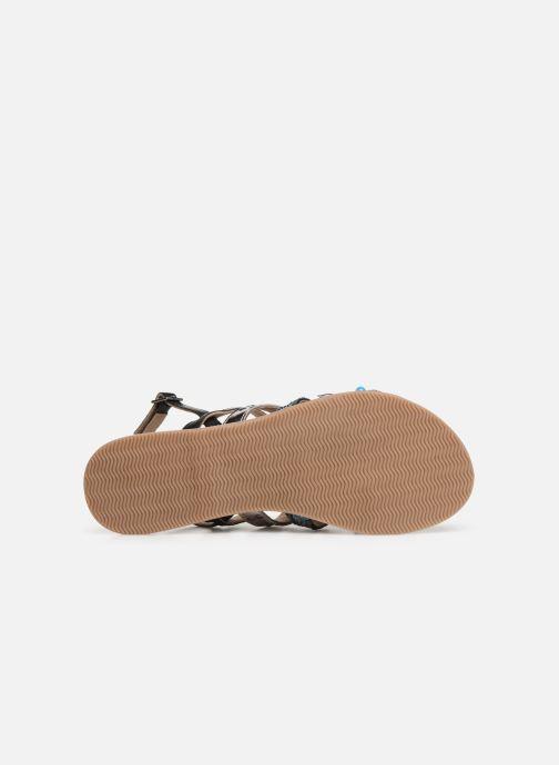Sandalen Initiale Paris Noreen schwarz ansicht von oben