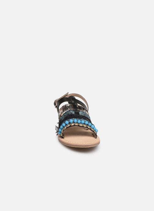 Sandales et nu-pieds Initiale Paris Noreen Noir vue portées chaussures
