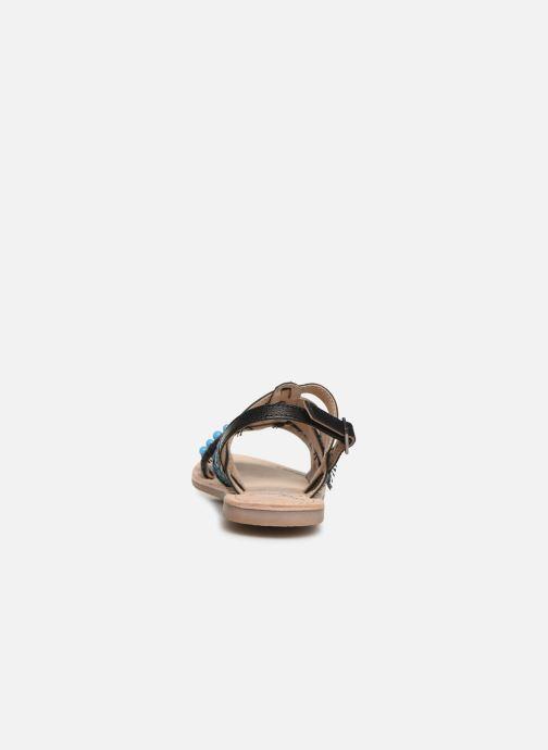 Sandalen Initiale Paris Noreen schwarz ansicht von rechts