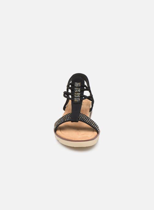 Sandales et nu-pieds Initiale Paris Ravie Noir vue portées chaussures
