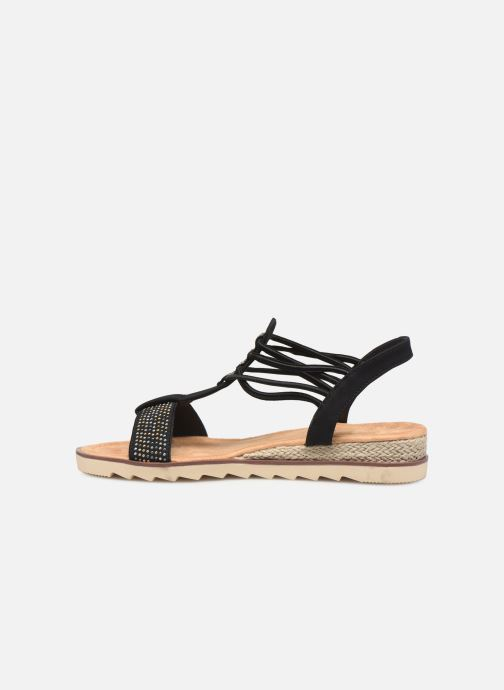 Sandales et nu-pieds Initiale Paris Ravie Noir vue face