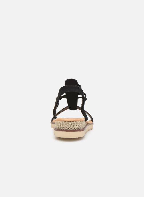 Sandales et nu-pieds Initiale Paris Ravie Noir vue droite