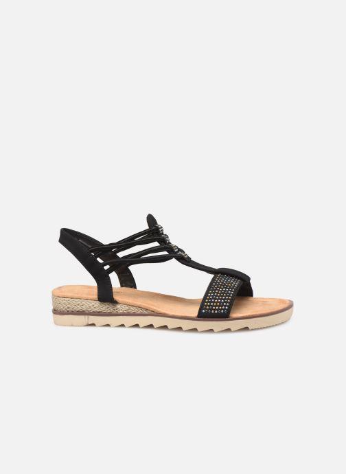Sandales et nu-pieds Initiale Paris Ravie Noir vue derrière