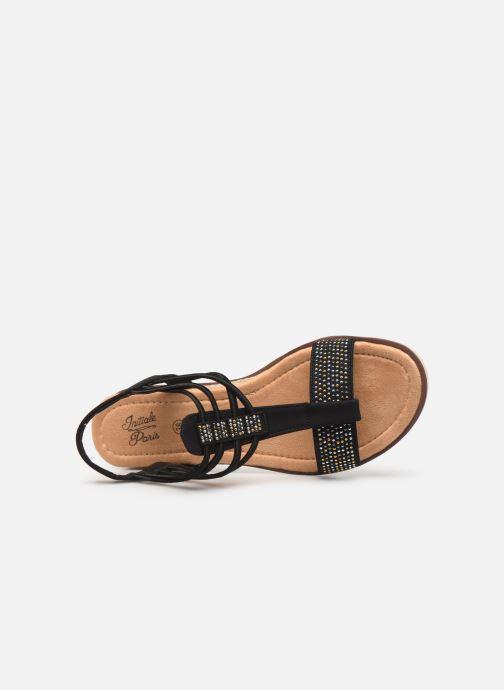 Sandales et nu-pieds Initiale Paris Ravie Noir vue gauche