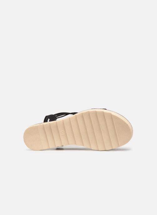 Sandalen Initiale Paris Ravie schwarz ansicht von oben