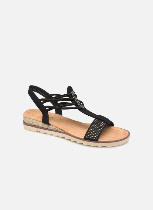 Sandales et nu-pieds Initiale Paris Ravie Noir vue détail/paire