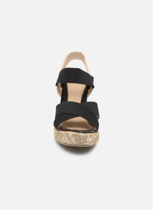Sandales et nu-pieds Initiale Paris Stefana Noir vue portées chaussures