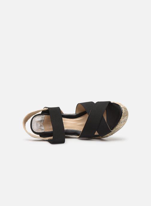 Sandales et nu-pieds Initiale Paris Stefana Noir vue gauche