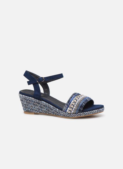 Sandales et nu-pieds Initiale Paris Tami Bleu vue derrière