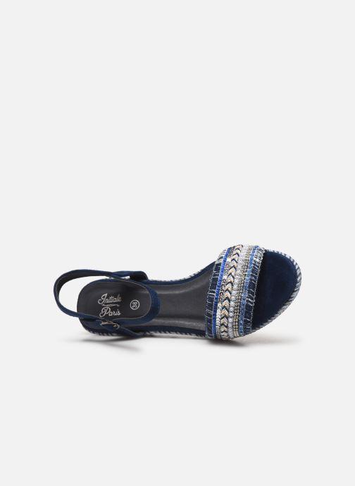 Sandalias Initiale Paris Tami Azul vista lateral izquierda