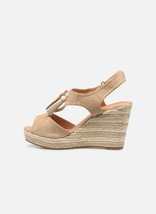 Sandales et nu-pieds Initiale Paris Tatami Beige vue face