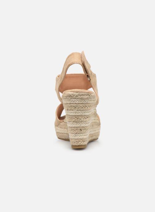 Sandales et nu-pieds Initiale Paris Tatami Beige vue droite