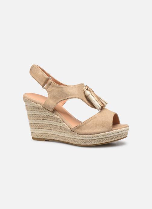 Sandales et nu-pieds Initiale Paris Tatami Beige vue derrière