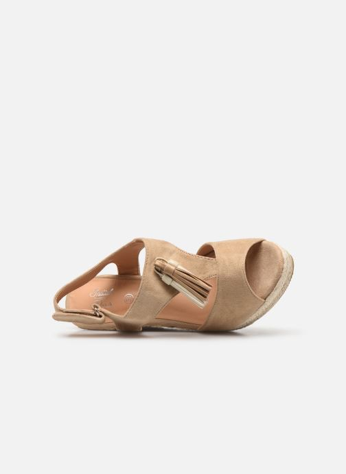 Sandales et nu-pieds Initiale Paris Tatami Beige vue gauche