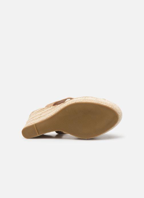 Sandales et nu-pieds Initiale Paris Tatami Beige vue haut