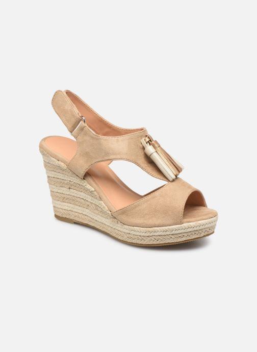 Sandales et nu-pieds Initiale Paris Tatami Beige vue détail/paire