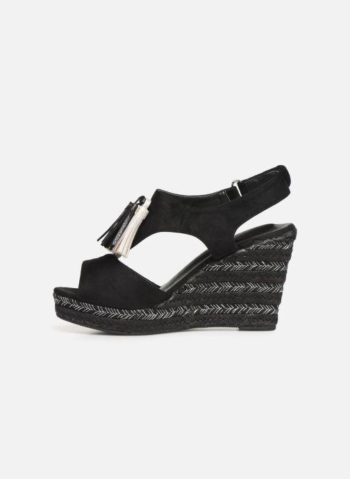 Sandalen Initiale Paris Tatami Zwart voorkant