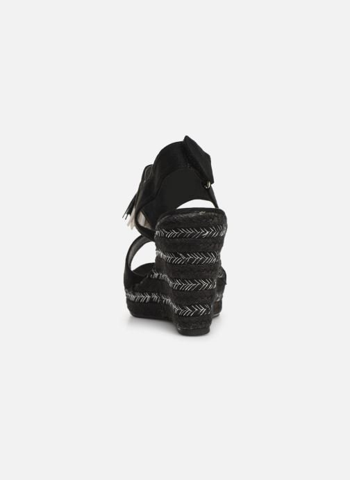 Sandalen Initiale Paris Tatami Zwart rechts