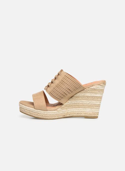 Sandales et nu-pieds Initiale Paris Tatanka Beige vue face
