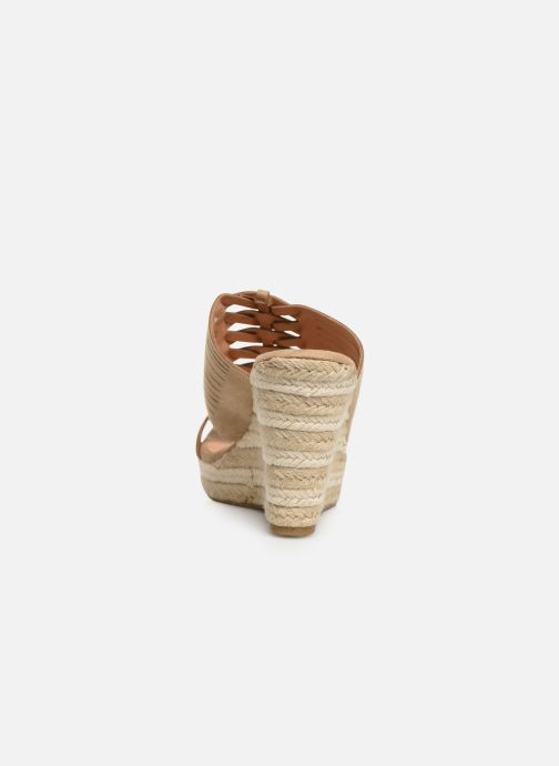 Sandalen Initiale Paris Tatanka beige ansicht von rechts