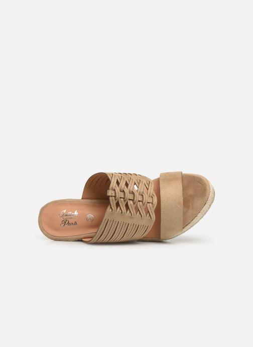 Sandalen Initiale Paris Tatanka beige ansicht von links